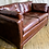 Thumbnail: Brown Rectangular Leather Couch