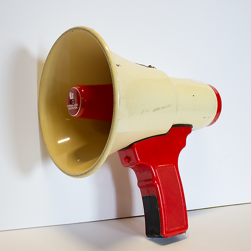 Red and Cream Megaphone
