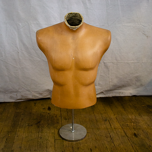 Headless Male Mannequin Torso on Stand