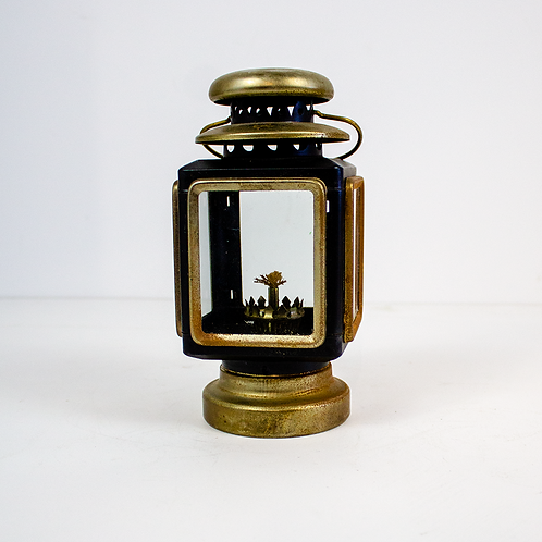 Small Black and Gold Oil Lantern