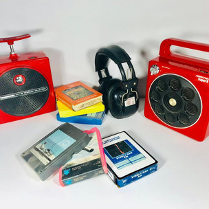 * Track Players Panasonic (left) Sound Design (right)  Assortment of 8 Tracks and headphones available