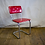 Thumbnail: Red Metal Diner Chair