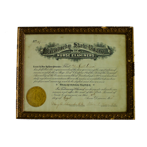 Framed Certificate Registered Nurse