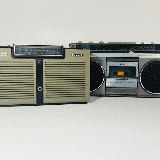 Panasonic Stereo Spacer FM/AM 8 track player, Universal Voltage Cassette player boom box Radio