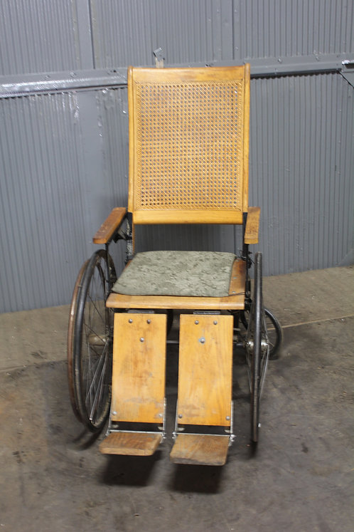 Cane Back Light Wood Antique Wheel Chair