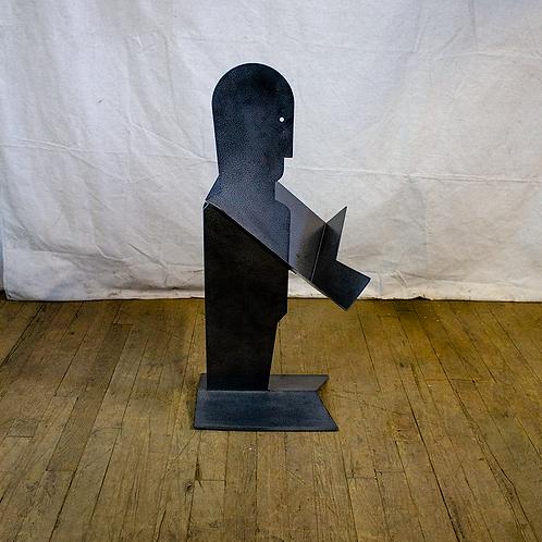 Silhouette Man Metal Display