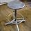 Thumbnail: Adjustable Silver Office Stool