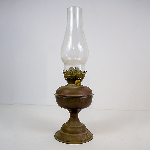 Antique Bronze Oil Lamp