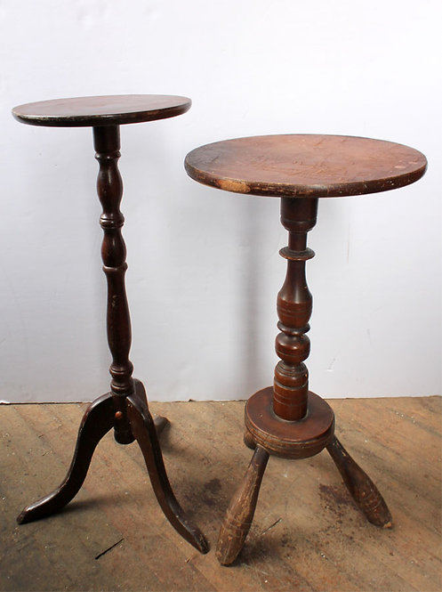 Round Top Wood Side Tables