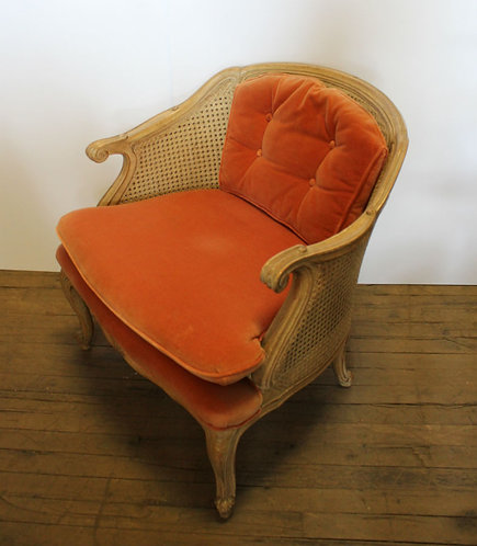 Orange Velvet Chair