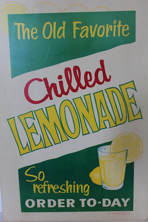 Chilled Lemonade Diner Sign