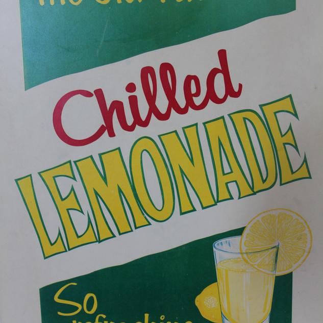 Chilled Lemonade sign