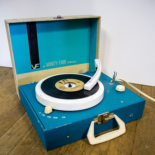 Vanity Fair Blue Portable Record Player