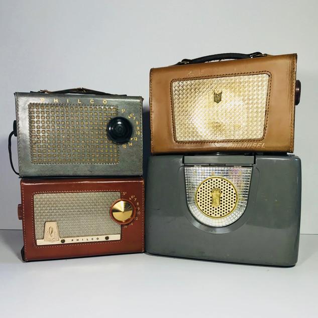Philco (top left) Philco (bottom left) Zenith (top right) Zenith (Bottom right) Radio