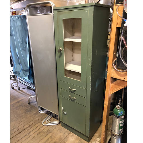 Tall Green Medical Cabinet