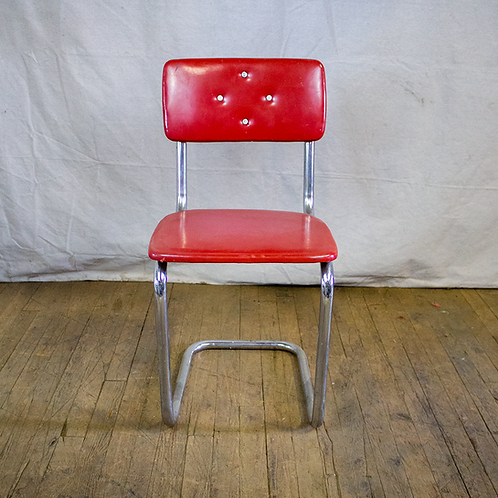 Red Metal Diner Chair