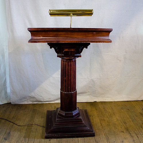 Wooden Podium Maitre d' stand with light