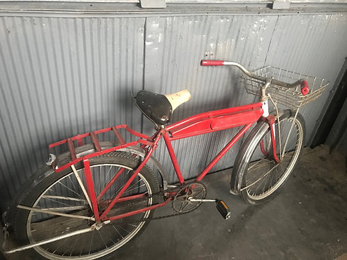 Red Bike with Front Basket