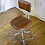 Thumbnail: Brown Leather Industrial Stool