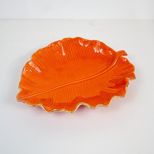 Orange Leaf Platter