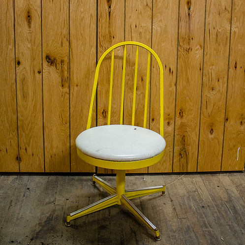Yellow Spinning Chair with White Seat