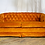 Orange Tufted Velvet Couch Front View