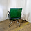 Thumbnail: Green Vinyl Chair with Metal Arms
