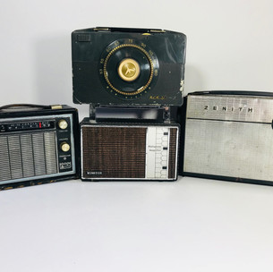 Arvin (left) RCA (top middle) Winston (bottom middle) Zenith (right) Radios