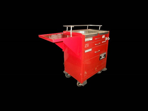 Red Industrial Medical Cart