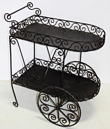 Decorative Black Cart