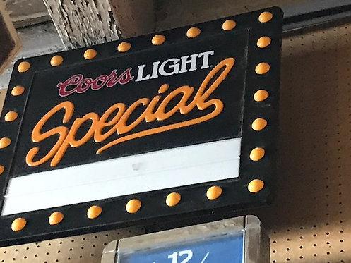 Coors Light Sign & Clock