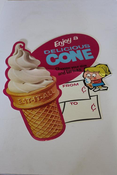 Ice Cream Cone Diner Sign