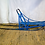 Blue Wooden Dog Sled Side View