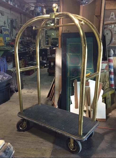 Brass Hotel Luggage Cart