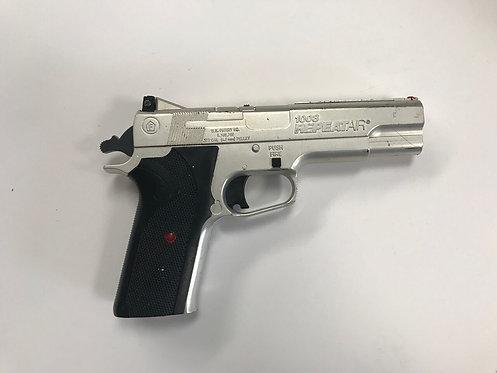 Silver and Black Modern Handgun
