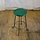 Thumbnail: Green Wooden Seat Stool with Black Metal Legs