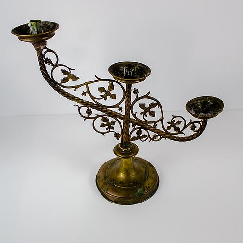 Three Light Candelabra with Vine Detail
