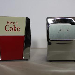 Coke napkin dispenser