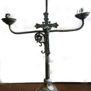 Crucifix candelabra