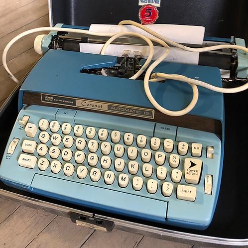 Blue Smith Corona Typewriter Coronet Automatic 12