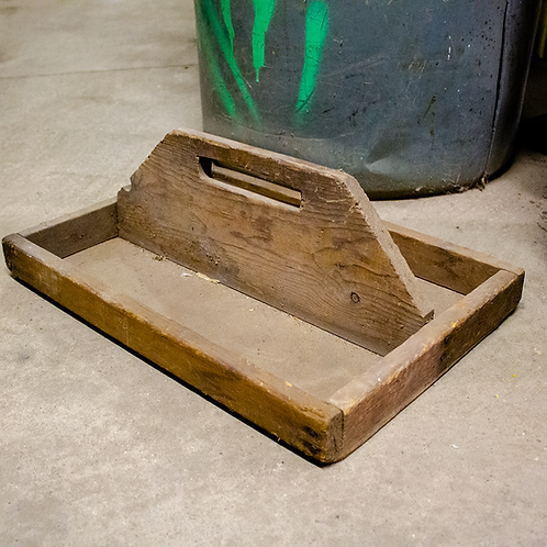 Shallow Wooden Tool Tray