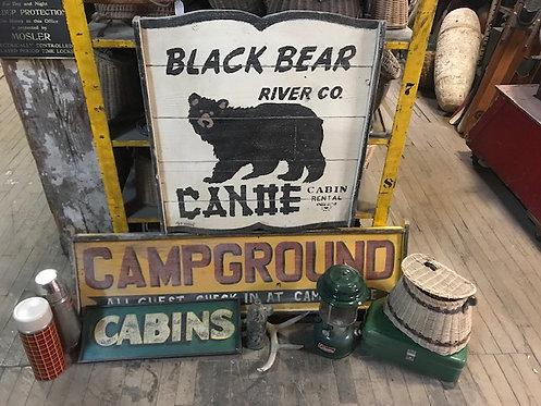 Campground Cabins Sign