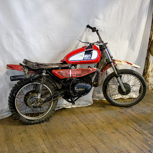 Red Yamaha 125 Dirt Bike