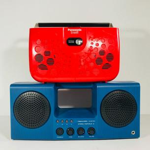 Panasonic (top) Realistic (bottom) Radio