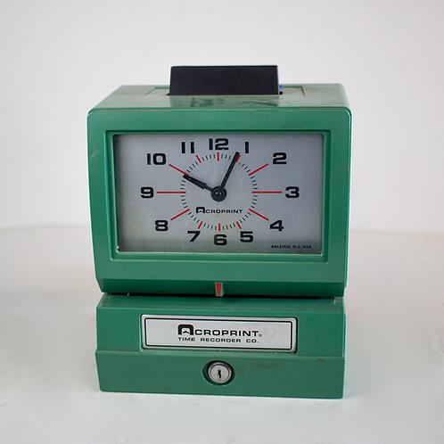 Analog Payroll Time Recorder Punch Clock