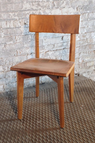 5 in stock  Light wood natural finish wooden armless chairs