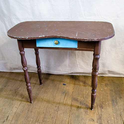 Small Table with Blue Drawer