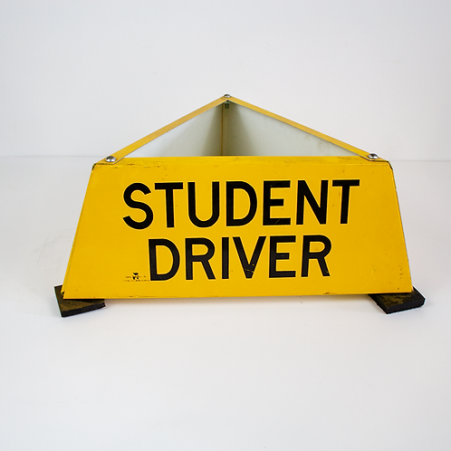 Student Driver Car Roof Sign