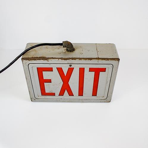 Grey Industrial EXIT Sign