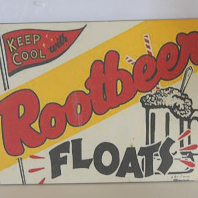 Rootbeet Floats sign